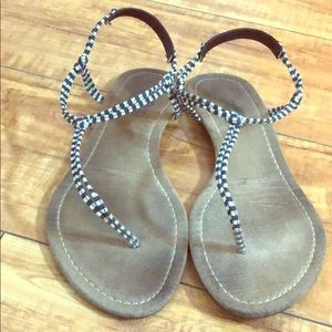 Shoes - Black and white sandals